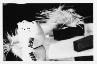 {Coffins, Ostrich Plumes, Lucky Cat}