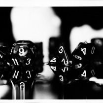 {Dice, Lucky Cats}. Gelatin silver print.